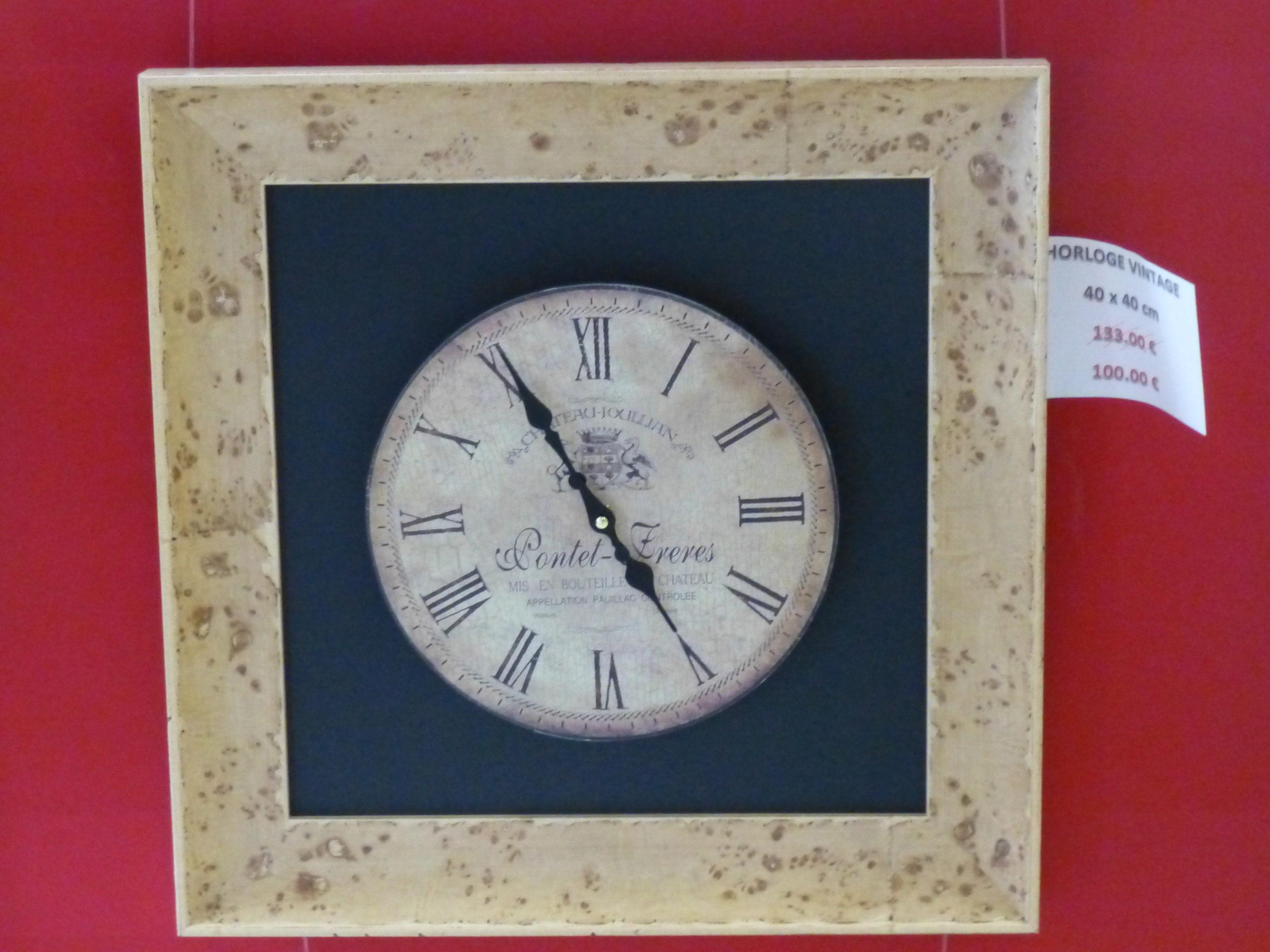 Horloge Vintage 40 x 40 cm