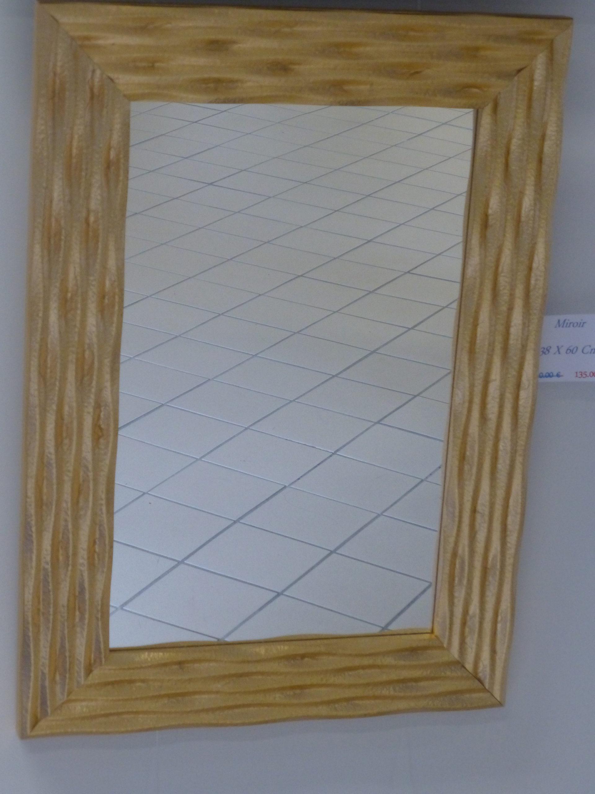 Miroir doré 38 x 60 cm