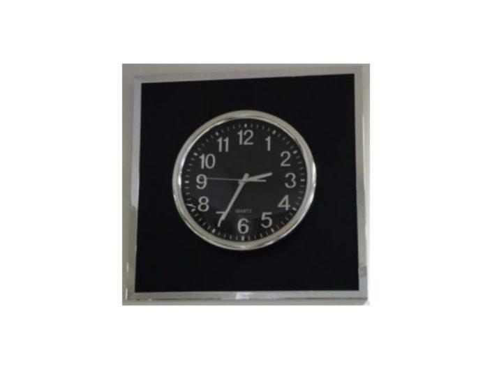 Encadrement d'une horloge avec baguette miroir