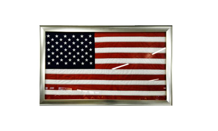 Encadrement d'un drapeau